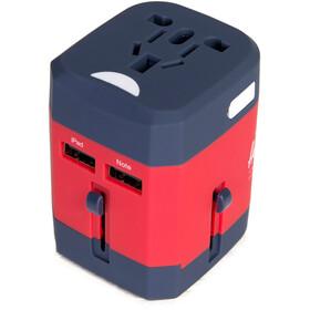Herschel Travel Adapter, rød/blå
